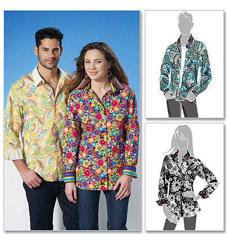 McCall's Misses'/Men's Shirts 6086