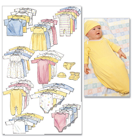 McCall's Infants' and Preemie Layette 6103