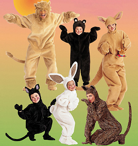McCall's Adults'/Kids' Animal Costumes 6106