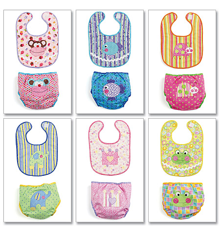 McCall's Infants' Bibs and Diaper Covers 6108