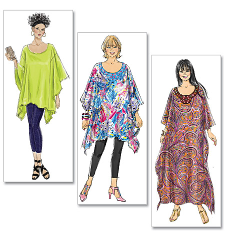 McCall's Misses'/Women's Top, Tunic and Caftan 6125