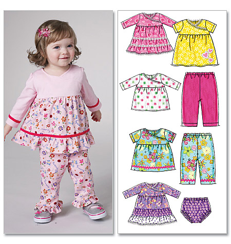 McCall's Infants' Tops, Dresses, Panties and Pants 6152