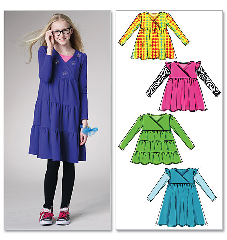 McCall's Children's/Girls' Tops and Dresses 6157