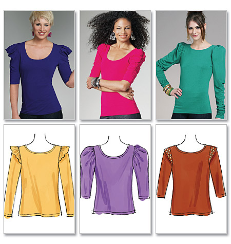 McCall's Misses' Tops 6164