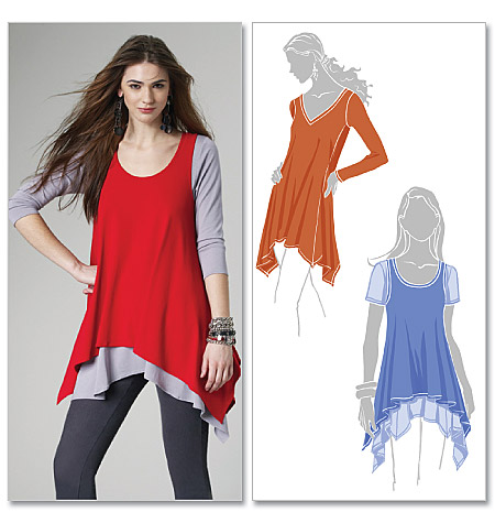 McCall's Misses' Tunics and Tank Top 6165