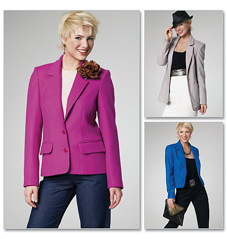 McCall's Misses' Lined Jackets in 3 Lengths 6172