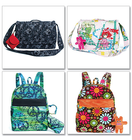 McCall's Backpack, Bag, Case in 3 Sizes and Charm 6176
