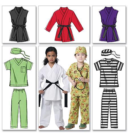 McCall's Children's/Boys'/Girls' Costumes 6184