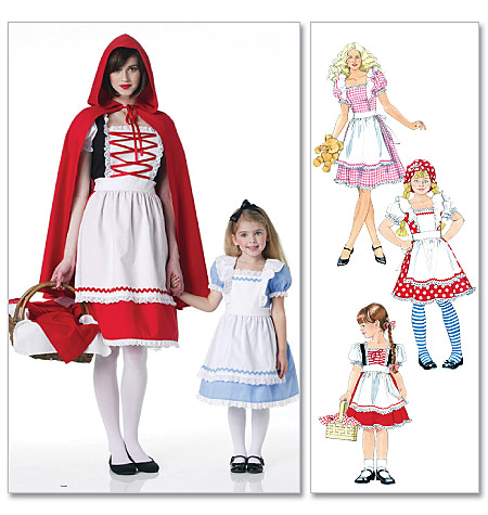 McCall's Misses'/Children's/Girls' Storybook Costumes 6187