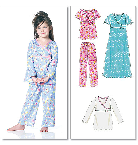 McCall's Children's/Girls' Tops, Gown and Pants 6189