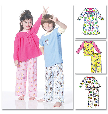 McCall's Toddlers'/Children's Tops, Nightgown and Pants 6194