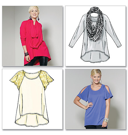 McCall's Misses' Tops and Scarf 6205