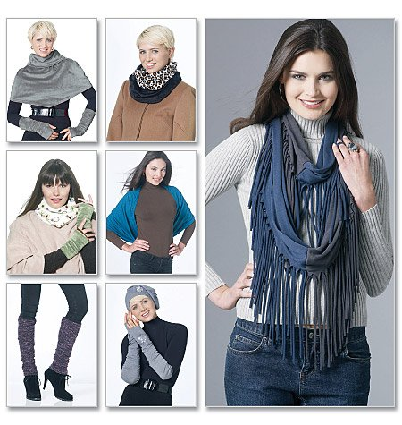McCall's Hats, Scarves, Cowl, Fingerless Gloves and Leg Warmers 6214