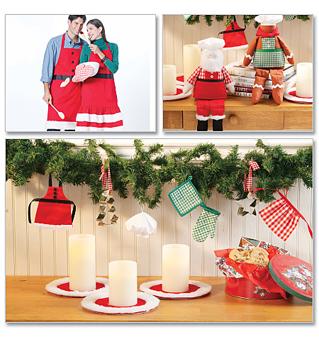 McCall's Aprons and Christmas Decorations 6219