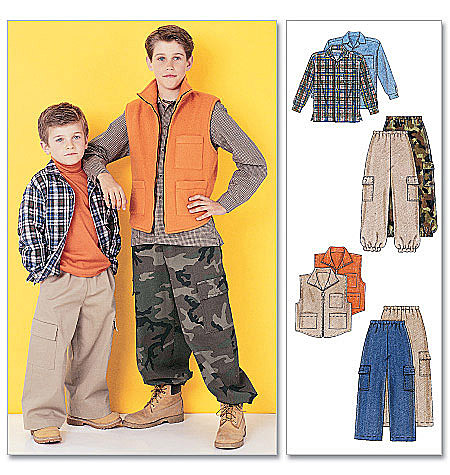 McCall's Children's/Boys' Shirt, Vest and Pull-On Pants 6222