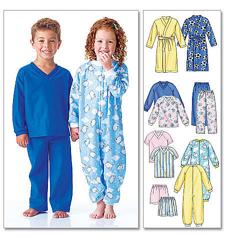 McCall's Toddlers'/Children's Robe, Belt, Jumpsuit, Top, Shorts and Pants 6224