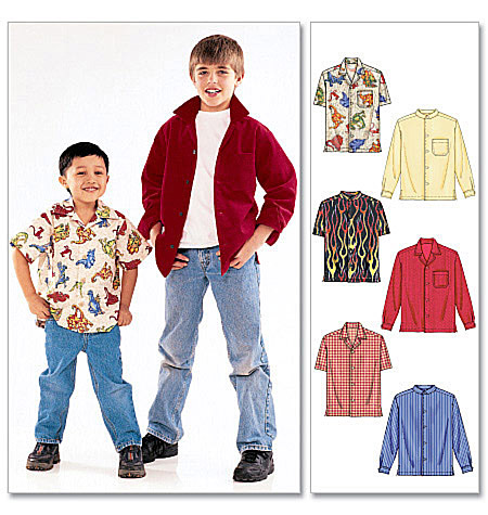 McCall's Children's/Boys' Shirts 6226