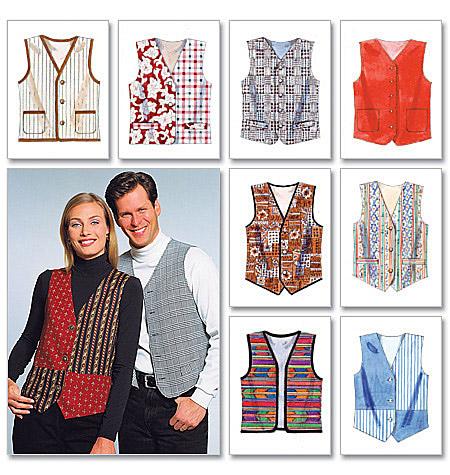 McCall's Misses'/Men's Lined Vests 6228