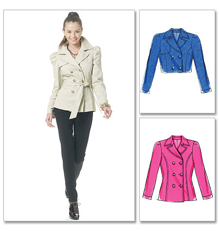 McCall's Misses' Lined Jackets In 2 Lengths And Belt 6246
