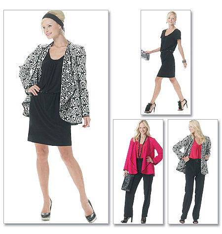 McCall's Misses' Unlined Jacket, Top, Dress And Pants 6248