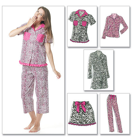 McCall's Misses' Tops, Nightshirt, Shorts, Capri Pants And Pants 6249