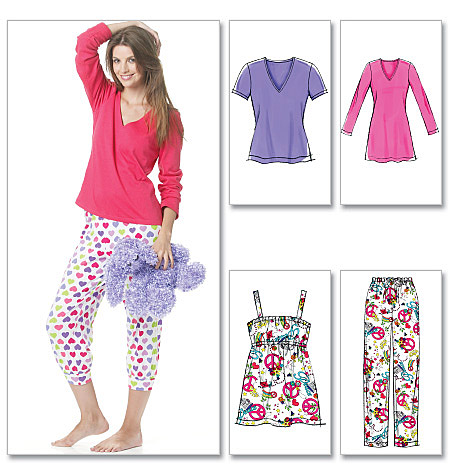 McCall's Misses'/Women'S Tops, Nightshirt And Pants 6250