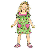 McCalls 6261 Pattern( Size 3-4-5-6-7-8-10-12-14 )