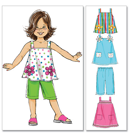 McCall's girls top, dress and pants 6262