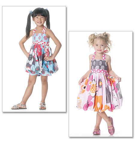 McCall's girls top, dress and shorts 6271