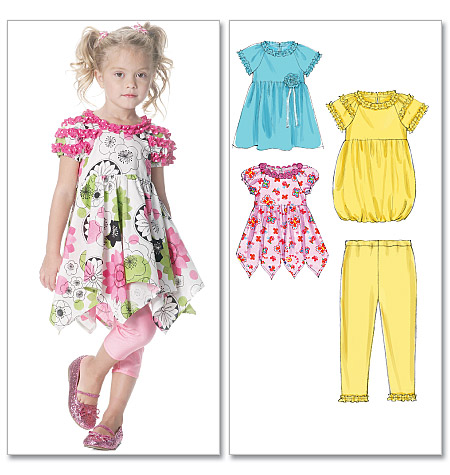 McCall's girls dress and leggings 6272
