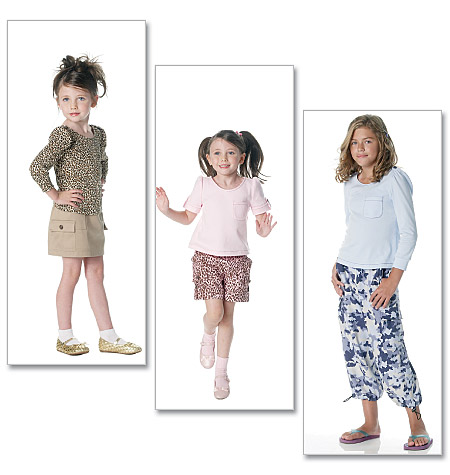 McCall's girls top, skirt, shorts, and pants 6274