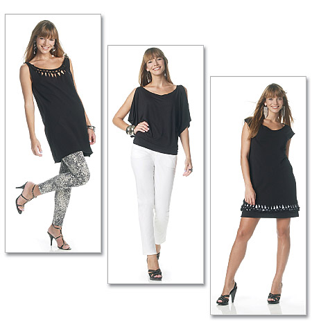 McCall's misses knit top, tunic, and dress 6287