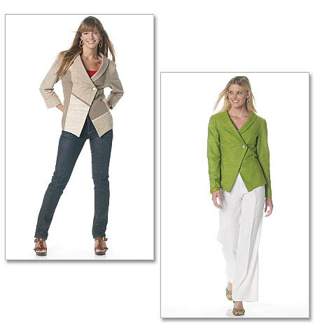 McCall's misses unlined jacket 6293