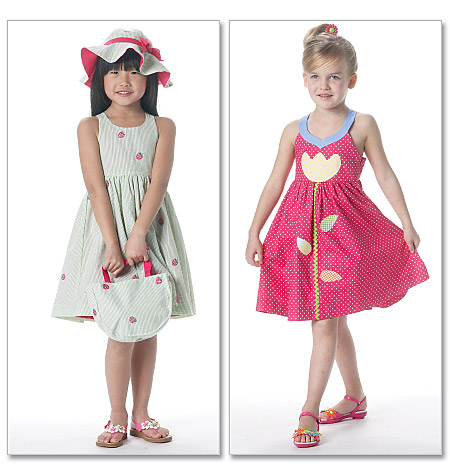McCall's toddler's and children's dresses, hat and tote bag 6310