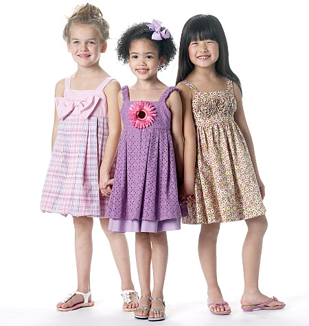McCall's children's lined dresses 6311