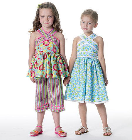 McCall's children's top, dress, belt and capri pants 6312