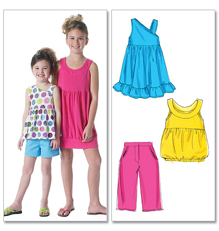 McCall's children's tops, dresses, shorts and pants 6315