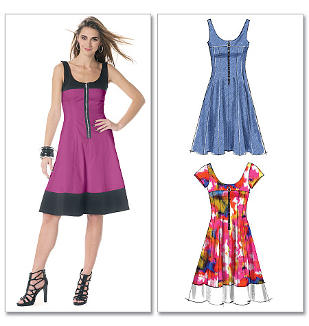 McCall's misses petite and women's dresses 6324