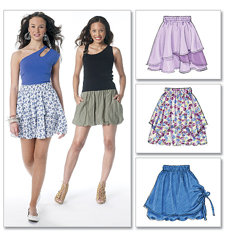 McCall's misses skirts 6327