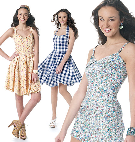 McCall's misses romper and dresses
