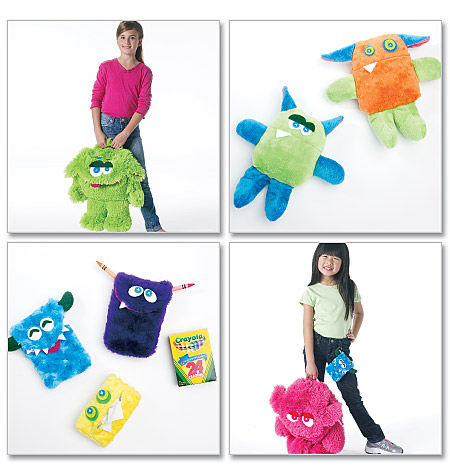McCall's monster backpack, cases, toys 6337