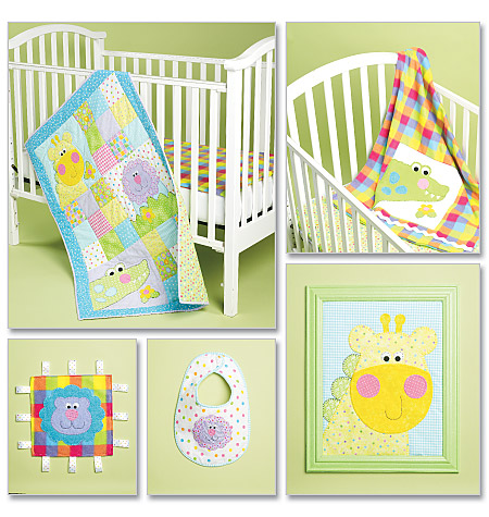 McCall's baby quilt, blanket, bib, wall hanging 6339