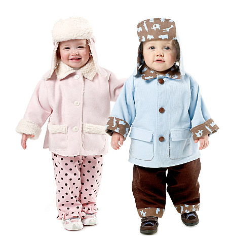 McCall's Infants' Lined and Unlined Jackets, Pants and Hats 6385
