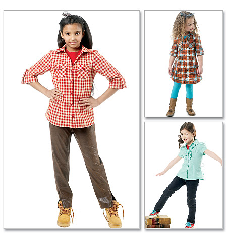 McCall's Children's/Girls' Tops, Dress and Pants 6389