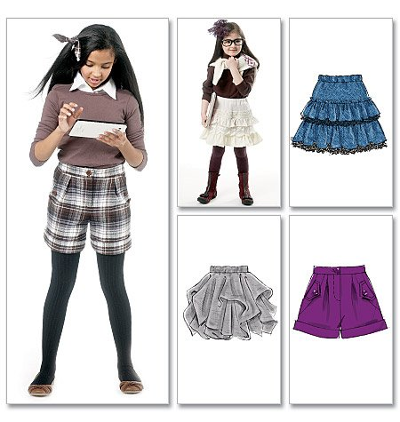 McCall's Children's/Girls' Skirts and Shorts 6391