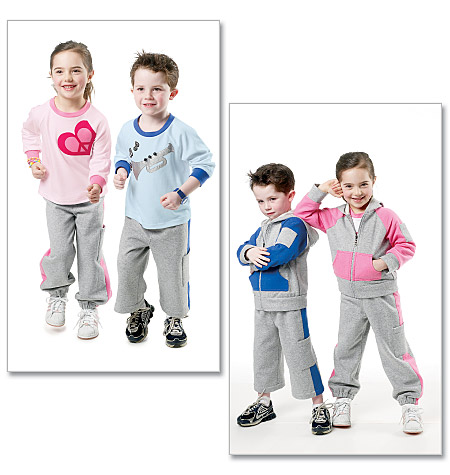 McCall's Children's/Boys'/Girls' Jacket, Tops and Pants In 2 Lengths 6393