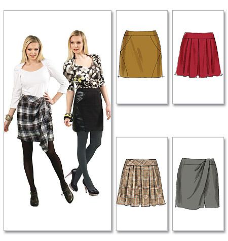 McCall's Misses' Lined and Unlined Skirts 6402