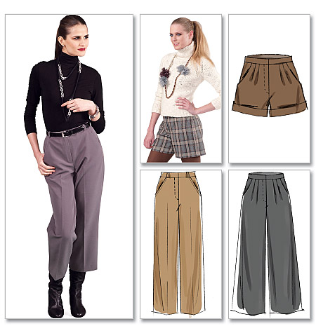 McCall's Misses'/Women's Shorts and Pants In 2 Lengths 6403