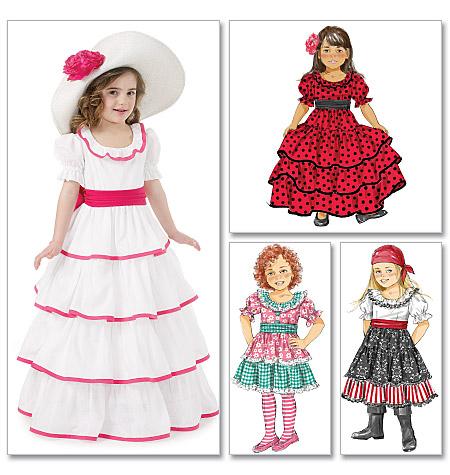 McCall's Children's/Girls Costumes 6418