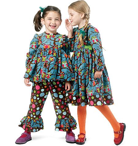 McCall's Children's/Girls' Top, Dress and Pants 6429